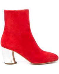Proenza Schouler - Chunky Metallic Heel Ankle Boot - Lyst