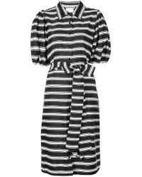 Lisa Marie Fernandez - Belted Striped Shirt Dress - Lyst
