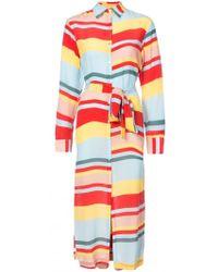 Beautiful Bottoms - Striped Shirt Dress - Lyst