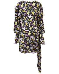 Magda Butrym - Ruched Wrap Floral Mini Dress - Lyst