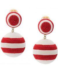 Rebecca de Ravenel - Two Drop Striped Earring - Lyst