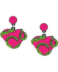 Yazbukey - Eve Snake Heart Earrings - Lyst