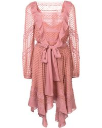Zimmermann - Embroidered Draped Dress - Lyst