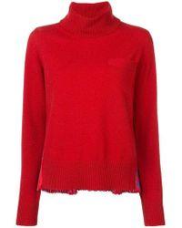 Sacai - Pleated Back Turtleneck Sweater - Lyst