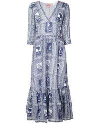 Le Sirenuse - Italy Print Full Dress - Lyst