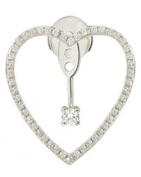 Yvonne Léon - Heart Earring With Diamond And Stud - Lyst