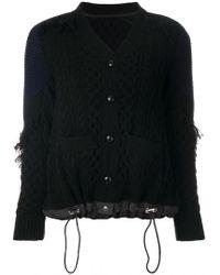 Sacai - Chunky Knit Cardigan - Lyst