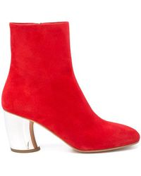 Proenza Schouler - Suede Curved Heel Ankle Boots - Lyst