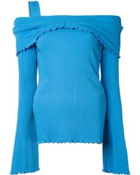 Ellery - Limozeen Off The Shoulder Ribbed Top - Lyst