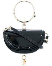 Chloé | Patent Minaudiere Nile Bag - Navy | Lyst