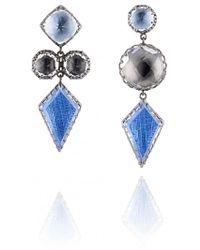 Larkspur & Hawk - Multicolour Sadie Mis Matched Kite 3 Drop Post Earrings - Lyst