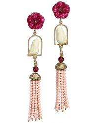 Of Rare Origin - Swinger Beaded Tassel Drop Earrings - Lyst