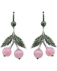 Axenoff Jewellery - Cherry Quartz Earring - Lyst