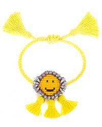 Shourouk | Yellow 'hippie Happy Face' Bracelet | Lyst