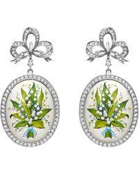 Axenoff Jewellery - Lily Oval Earrings - Lyst