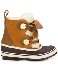 Chloé - Sorel Shearling Winter Boots - Lyst