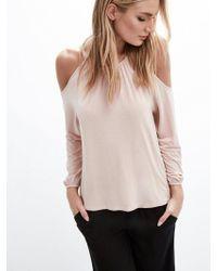 Krisa - Cold Shoulder Long Sleeve - Lyst