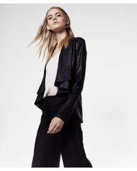 Krisa - Coated Drape Jacket - Lyst