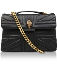 Kurt Geiger | Leather Kensington Uj Bag In Black | Lyst