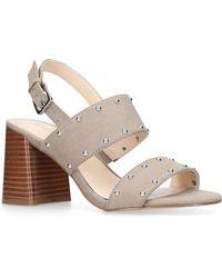 a03e35d62e0f Nine West Carnation Leather Platform Sandals in Brown - Lyst