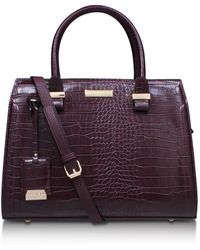 Carvela Kurt Geiger - Holly Croc Zip Bag In Wine - Lyst