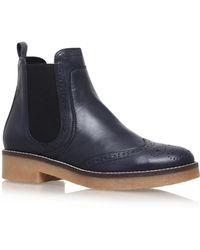 Carvela Kurt Geiger - Blue 'slowest' Flat Ankle Boots - Lyst