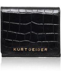Kurt Geiger - Croc Square Purse In Black - Lyst