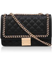 519cf63a138 Carvela Kurt Geiger - Black  large Bailey  Quilted Chain Shoulder Bag - Lyst