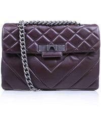 Kurt Geiger - Leather Mayfair Bag In Wine - Lyst