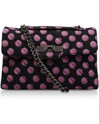 Kurt Geiger - Fabric Mayfair X Bag In Pink - Lyst