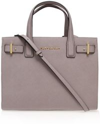 Kurt Geiger - Saffiano London Tote In Taupe - Lyst