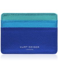 Kurt Geiger - Leather Card Holder In Multi/other - Lyst