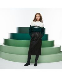 Lacoste - Fashion Show High Waisted Soft Leather Skirt - Lyst