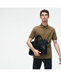 Lacoste - L.12.12 Business Leather Computer Bag - Lyst