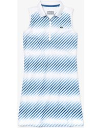 766b6197e2b88 Lyst - Lacoste Short Sleeve Classic Pique Belted Polo Dress, Ef3089 ...