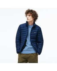 Lacoste - Short Contrast Lining Quilted Jacket - Lyst