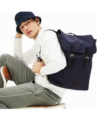 Lacoste - Malo Leather Accent Backpack - Lyst