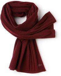 Lacoste - Cashmere Jersey Scarf - Lyst