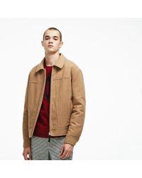 dcc0f4bee7e05 Lacoste - Unisex Live Detachable Collar Wool Broadcloth Zip Jacket - Lyst