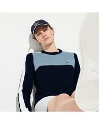 7016a1034b Lyst - Lacoste Sport V-neck Knit Golf Sweater in Blue for Men