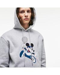 Lacoste - Unisex Disney Mickey Embroidery Hooded Fleece Sweatshirt - Lyst