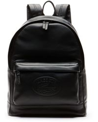 ba07978bd6 Lacoste L.12.12 Casual Embossed Lettering Leather Backpack for Men ...