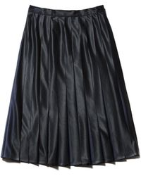 Lacoste - Pleated Bicolor Jersey Mid-length Skirt - Lyst