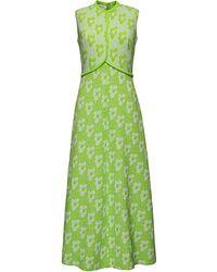 La Double J - Green Jersey-jacquard Dress - Lyst