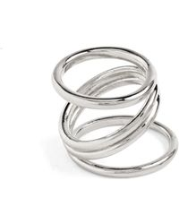 Lady Grey - Wrap Ring In Silver - Lyst