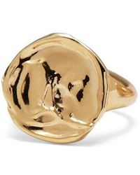 Lady Grey - Palette Signet Ring In Gold - Lyst