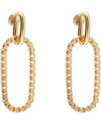 Lady Grey - Box Link Earrings In Gold - Lyst