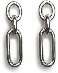 Lady Grey - Trés Link Earring In Rhodium - Lyst