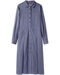 Margaret Howell - Pleated Shirt Dress - Lyst
