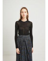 Isabel Marant - Nash Linen Wool Sweater - Lyst